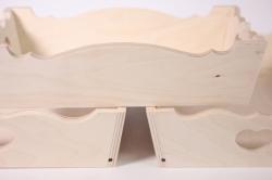 деревянная заготовка - комплект из 3шт подносов разных с сердцем