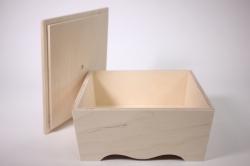 деревянная заготовка - конфетница с крышкой 22х22 h=10cм