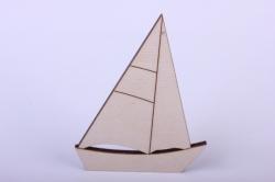 Деревянная заготовка - Кораблик 9*6,8см, фанера 4мм  402079
