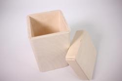 деревянная заготовка - короб для сыпучих 10х10см h=10см