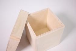 деревянная заготовка - короб для сыпучих маленький 10х10 h=10см