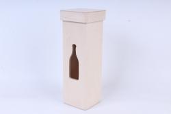 Деревянная заготовка - Короб для вина с крышкой