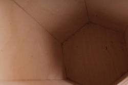 деревянная заготовка - короб под бутылку вина шестигранный