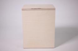 деревянная заготовка - короб под сыпучие с ручкой 12х9 h=15см