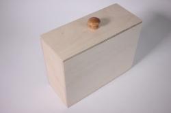 Деревянная заготовка - Короб с крышкой узкий 20*8*15