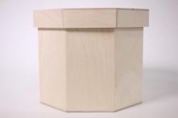 Деревянная заготовка - Короб восьмигранный малый d=17см h=15см