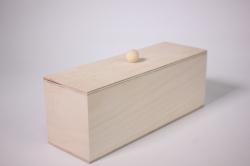 Деревянная заготовка - Коробка чайная длинная 21х7см h=8см