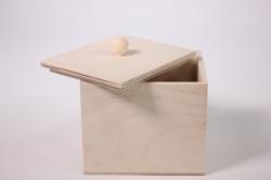 Деревянная заготовка - Коробочка чайная 10х9см h=9см