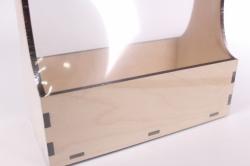 деревянная заготовка - корзина 24*22*12см, фанера 6мм, дно фанера 4мм 108091