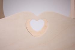 деревянная заготовка - корзина с ручкой с сердечком 26х14 h=26см