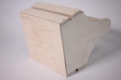 деревянная заготовка - корзинка пасхальная 16*16см h=20см