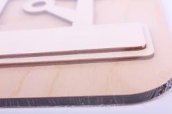 деревянная заготовка - кот и деревья основа 25*25см, накладка 24*21см, основа фанера 6мм, накладка фанера 3мм  108063