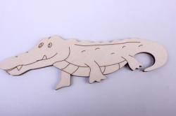 деревянная заготовка - крокодил 15*5см, фанера 4мм 005043