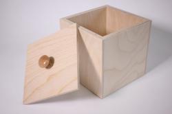 Деревянная заготовка - Кубик с крышкой 13*13*13см