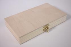 Деревянная заготовка - Купюрница с замочком 19*11см, h=3.5 см