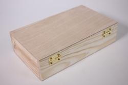 деревянная заготовка - купюрница с замочком 19*11см, h=5см