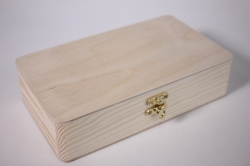 Деревянная заготовка - Купюрница с замочком скругленная 19*11см, h=5см