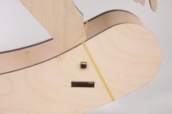 деревянная заготовка - лошадка-качалка большая l=50см р=43см