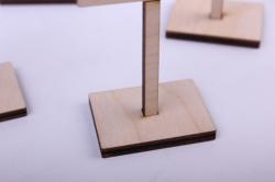 деревянная заготовка - минидорожные знаки на подставках, фанера 4мм 302061