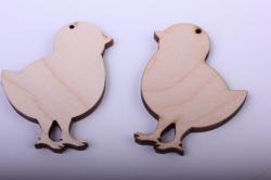 деревянная заготовка - набор цыплята 6см, фанера 4мм 402054