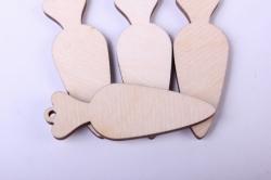 деревянная заготовка - набор морковки 5см, фанера 3мм  402056