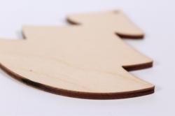 деревянная заготовка - набор новогодний, ёлка 8*8см 3шт, носок 9*6см 2шт, 201027
