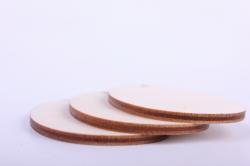 """деревянная заготовка - набор """"пасхальные яйца"""" малый 5,5см, 3шт, фанера 3мм  402048"""