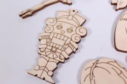 деревянная заготовка - набор сказка щелкунчик, фанера 4мм102090