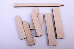 """деревянная заготовка - набор """"скворечник с сердечком, подставкой и забором"""" 15см, фанера 4мм7-03"""