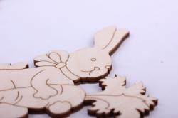 """деревянная заготовка - набор топперов """"заяц с капустой и заяц с морковкой"""" 21*7см, фанера 3мм 402066"""