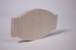 деревянная заготовка - накладка конфетка 10*5