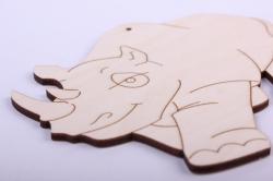 деревянная заготовка - носорог 15*14см, фанера 4мм 005031