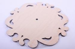 Деревянная заготовка - Основа под часы ажурная 25*25см, фанера 6мм 402078