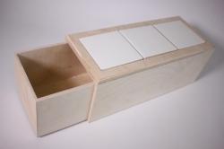 Деревянная заготовка - Пенал под 3 плитки 10*10см