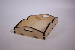 деревянная заготовка - поднос 3 (малый) 13х20см (код 102093)