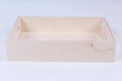 """деревянная заготовка - поднос """"кантри"""" малый 280*190*60мм"""
