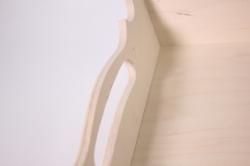 деревянная заготовка - поднос роял 30х30 h=7см