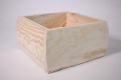 деревянная заготовка - подставка ладья овальная 18*18см, h=10см