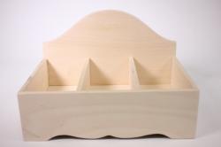 Деревянная заготовка - Подставка под специи большая на 3 отделения29х20см h=19см