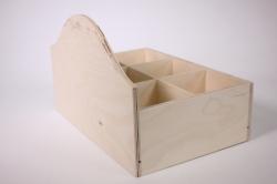 деревянная заготовка - подставка под специи большая на 6 отделений 29х20см h=19см