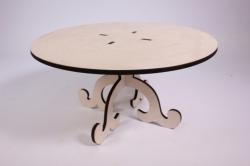 деревянная заготовка - подставка под торт 1, диаметр круга 30см, высота 15см, фанера 6мм 108093