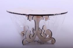 деревянная заготовка - подставка под торт №2, диаметр круга 30см, высота 15см, фанера 6мм  108073