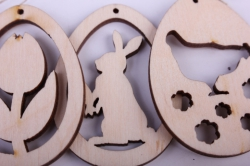 """деревянная заготовка - подвески """"набор пасхальный 1 3шт"""" 5,5см, фанера 3мм  402032"""
