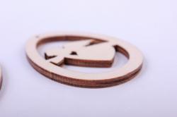 """деревянная заготовка - подвески """"набор пасхальный 9 3шт"""" 5,5см, фанера 3мм 402040"""