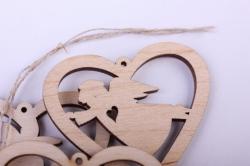 """деревянная заготовка - подвески """"набор валентинок 2 3шт"""" 5-4см, фанера 3мм  402041"""