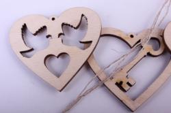 """деревянная заготовка - подвески """"набор валентинок 5 3шт"""" 5-4см, фанера 3мм  402045"""