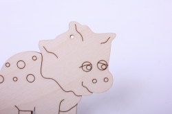 деревянная заготовка - протоцератопсик 12*8,5см, фанреа 4мм  005062
