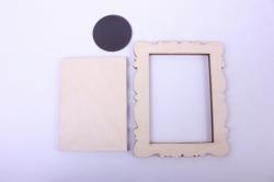 деревянная заготовка - рамка под фото №1 8*10см, фанера 4мм  107073