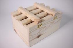 Деревянная заготовка - Реечный ящик Щелкунчик 15*20*12см