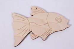 Деревянная заготовка - Рыбка 12*9см, фанера 4мм 005009